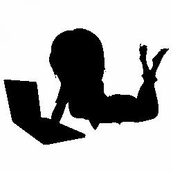 Жена с лаптоп