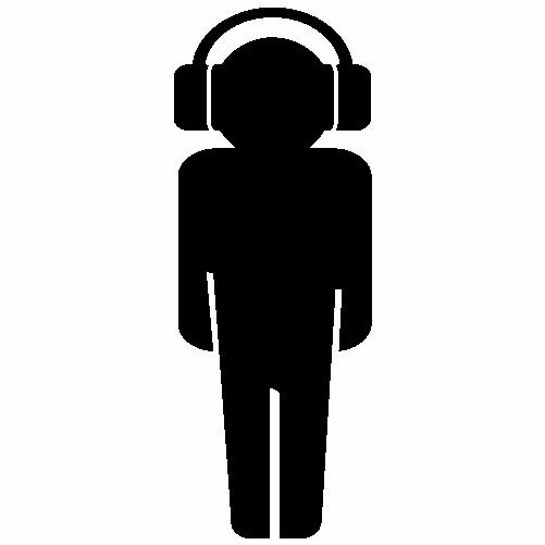 Човече със слушалки