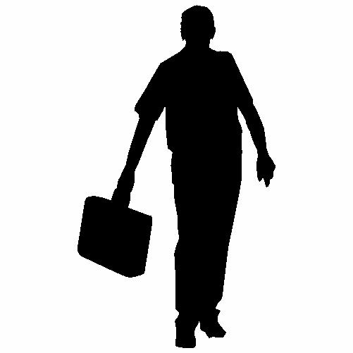 Мъж с куфар