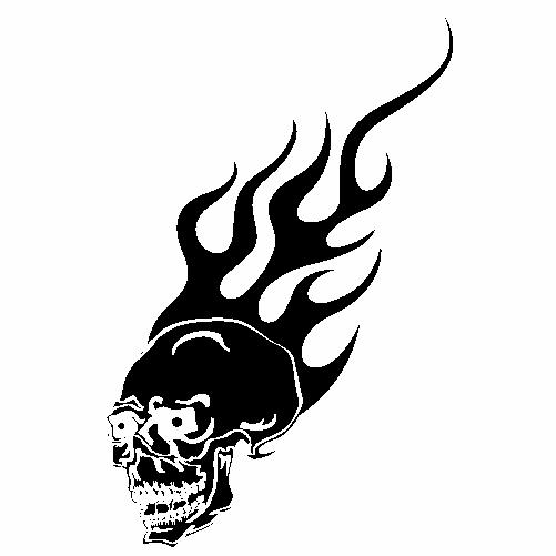Череп и огън