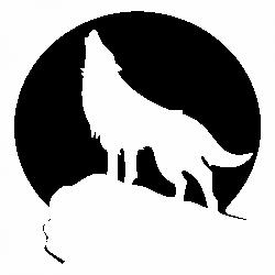 Вълк на лунен фон